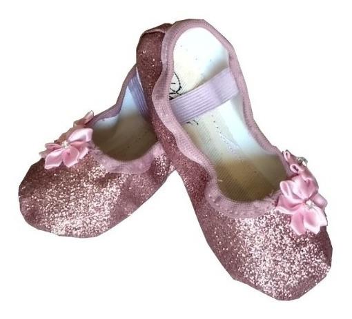 Sapatilha Glitter Decorada Ballet Bailarina