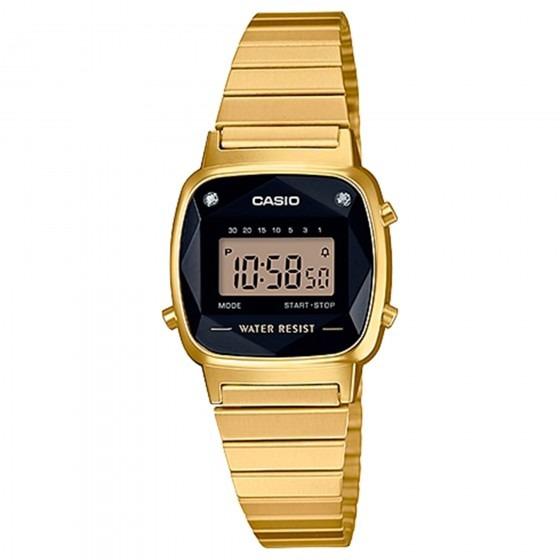 Relógio Casio Feminino La670wgad-1df Dourado - Refinado