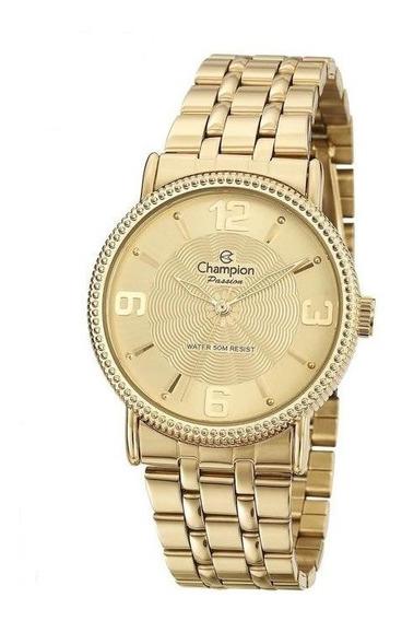 Relógio Champion Feminino Luxo Elegance Original Banhado 18k