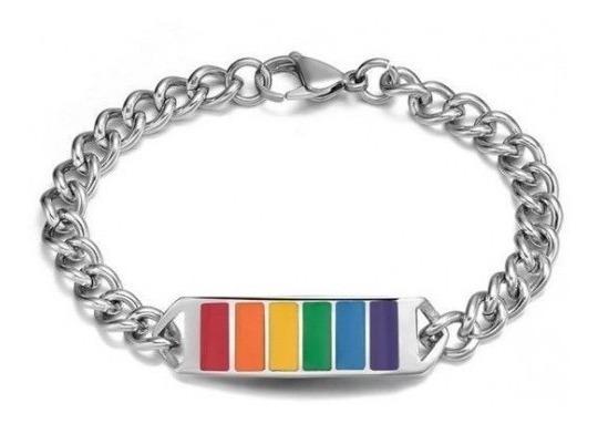 Esclava Gay Pride Acero Inoxidable Arcoiris (envío Gratis)