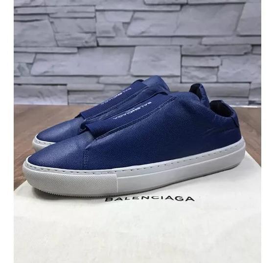Sapatênis Balenciaga Azul Couro, Super Promoção - Adquire Já