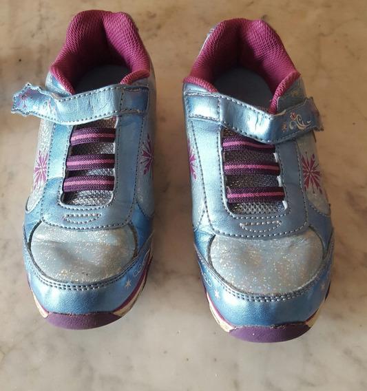 Zapatillas Nena Disney Frozen Con Luces, Importadas Talle 32
