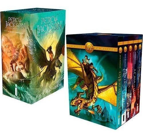 Box Percy Jackson E Os Olimpianos + Box Heróis Do Olimpo