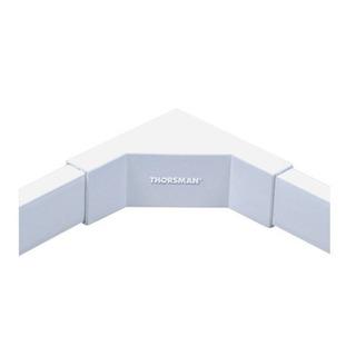 Esquinero Interior Color Blanco De Pvc Auto Extinguible,
