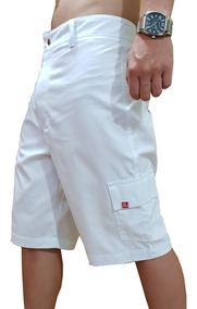 Bermuda Jeans Sarja Cargo Masculina Vc Stilo Várias Cores