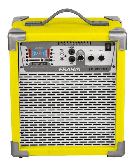 Caixa Amplificada Lc200 Bt, Usb, Sd,fm Amarela 50w Rms - Fr