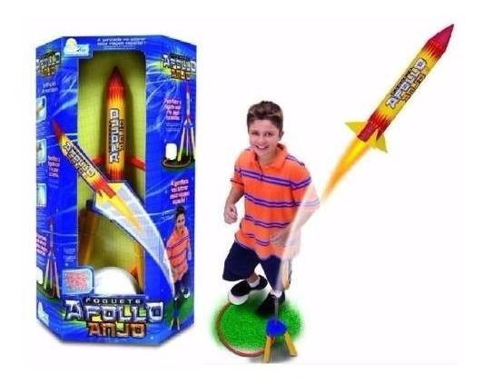 Brinquedo Infantil Miniatura Foguete Apollo Anjo - Voa 15 M