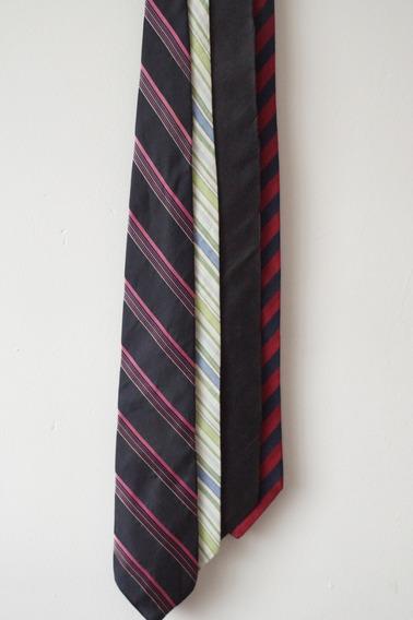 4 Corbatas Varios Colores (dkny Y Otras Marcas)