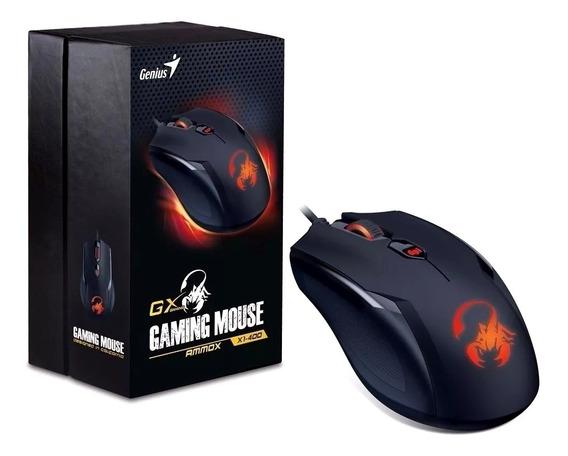 Mouse Genius X1-400 Gx Gaming Ammox 3200dpi 4 Botões Macro
