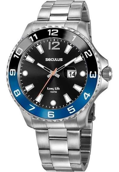 Relógio Masculino Seculus Prata 20764g0svna1