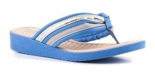 Chinelo Anabela Piccadilly 561006 - Azul