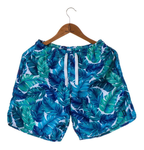 Short Masculino Praia Floral Azul