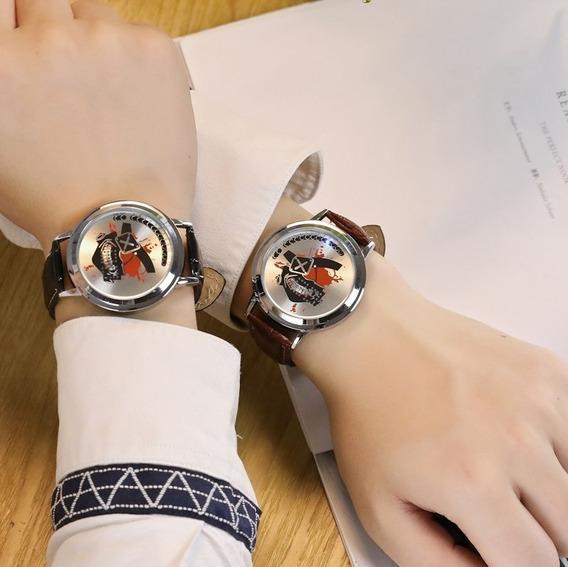 Relógio Binário Led Pulseira De Couro Preta Moderno Touch M5