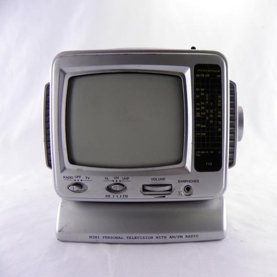Mini Personal Television Tv5 Preto E Branco - Funcionando