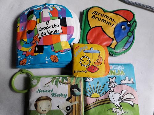 Imagen 1 de 10 de Lote 5 Libros P/bebe Lavables Ideal Para Jugar En La Bañera