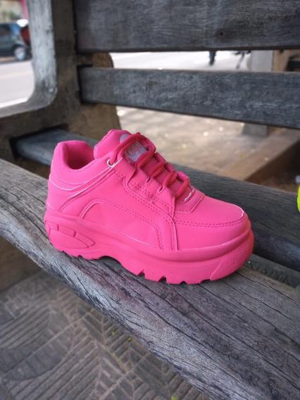 Tênis Sneaker Buffalo Feminino Vicerinne Plataforma Confort