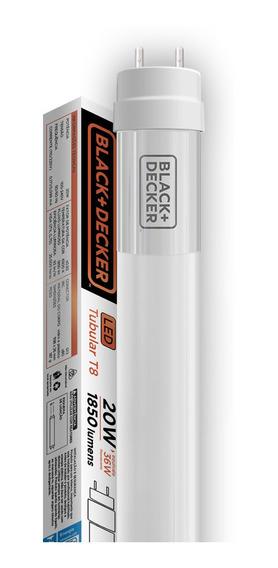 Lampada Led Tubular T8 10w 6500k 60cm - Black + Decker