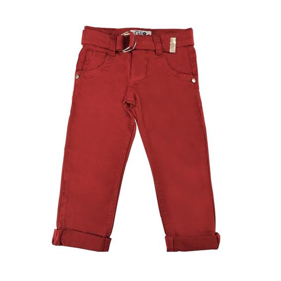 Roupa De Bebê Calça Jeans Sarja Colorida Com Cinto