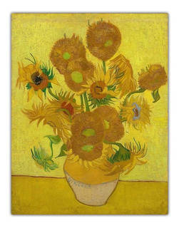 Poster Hd Van Gogh 60x80cm Decorar Foto Obra 15 Girassóis
