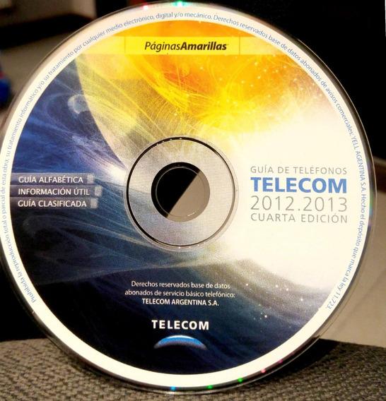Guia De Telefonos Telecom 2012 2013 Cd Paginas Amarillas