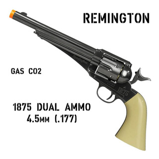 Revólver Co2 Remington 1875 Full Metal 4.5mm Esfera E Chumbo