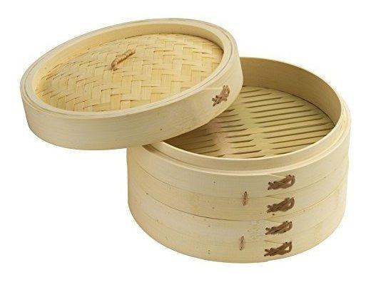 Joyce Chen 26-0013, Juego De Vapores De Bambú, 10 Pulgadas