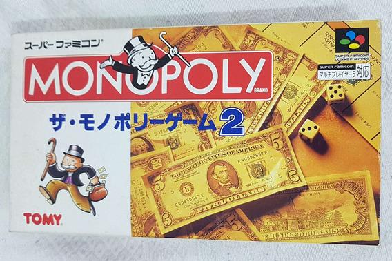 Monopoly 2 Banco Imobiliário Nintendo Super Famicon Snes Jp