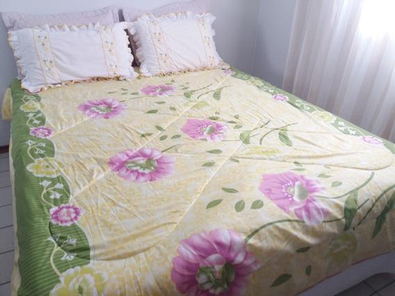 Edredom Com Cobertor Microfibra Dupla Face Floral E Animal Print Tamanho Casal Cobertor De Inverno Seminovo