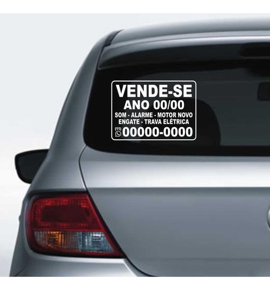 Adesivo Para Carros Personalizados Vende-se 30x21cm - Ft Gts