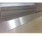 Rodapie De Aluminio Liso De 15cm X 3,6mts Para Cocinas