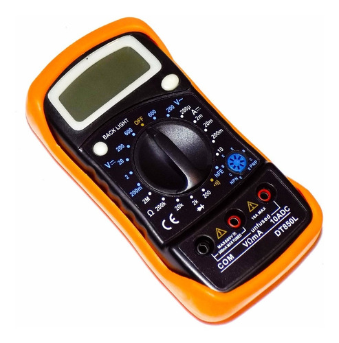 Imagen 1 de 10 de Tester Multimetro Digital Gralf Dt850l Hold Diodo Buzzer