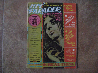 Hit Parader Revista, Black Sabbath, Alice Cooper