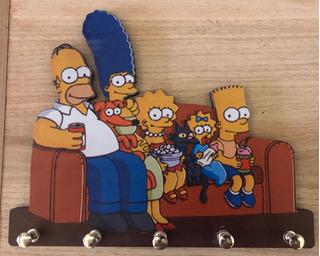 Porta Chaves Simpsons Parede Personalizado Chaveiros Mdf