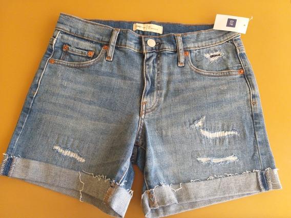 Gap Short Jean Nuevo Con Etiqueta Talle 0/25