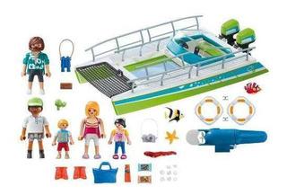 Brinquedo Playmobil Sports Barco Com Motor Subaquático 9233