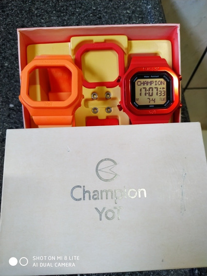 Relógio Champion Digital Yot Troca Pulseira