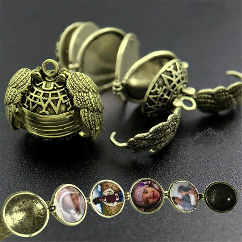 Collar Relicario De Snitch Dorada - Quidditch - Harry Potter