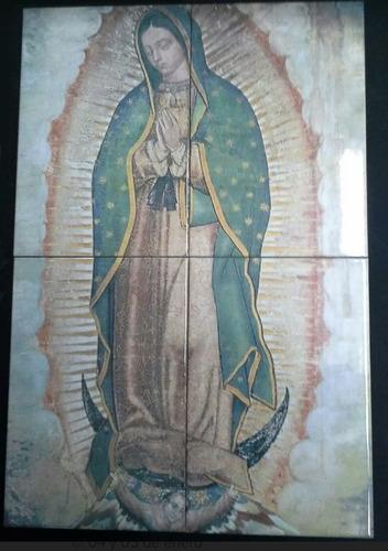 Imagen 1 de 1 de Virgen De Guadalupe En Azulejos 60x40cm    C53467