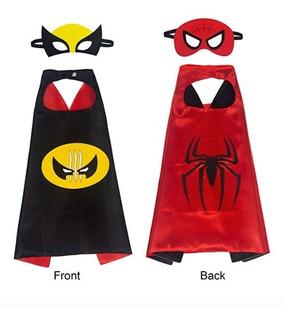 Disfraz Spiderman Wolverine Niños 2 En 1