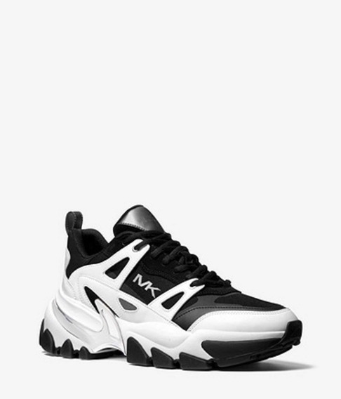 Nick Rubberized Leather And Mesh Trainer