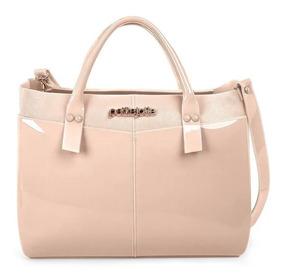 Bolsa Feminina Petite Jolie Worky Bag Pj3457 Nude   Adrys