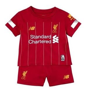Kit Infantil Liverpool 2020- Salah, Firmino, Henderson, Mané