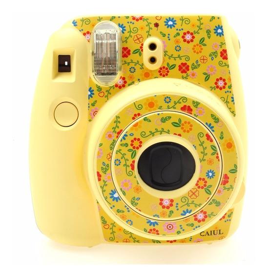 Adesivo Amarelo Flores Instax Mini8 *frete Grátis!*