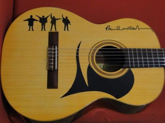 Adesivos The Beatles Help Violão Guitarra Baixo 15cm