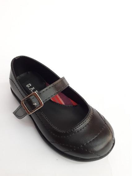 Guillermina Zapato Escolar Colegial Nena Niña Hebilla Negra