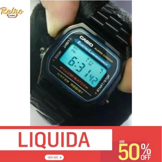 Relógio De Pulso Csio Retro Vintage Aço Inoxidavel Preto 168