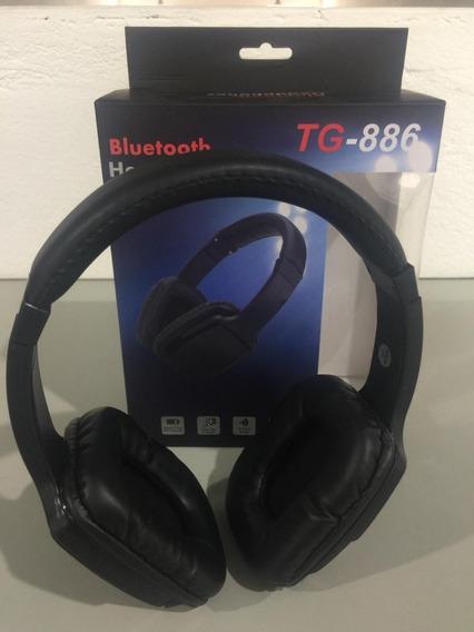 Fone Bluetooth Com Slot Cartão Mp3 Atende Ligação Tg-886