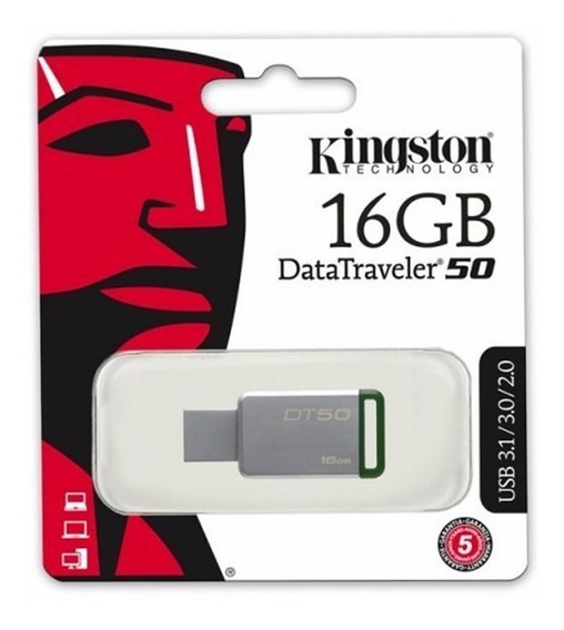 Memoria Usb 3.0 16gb Kingston Dt50 Velocidad Mayoreo Metal