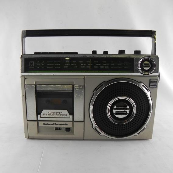 Radio Gravador Cassette K7 National Rx-1490 Usado C/ Defeito