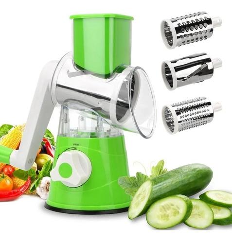 Rallador Cortador Vegetales Verduras Queso En Acero Frutas ®